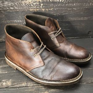 Clark's Rustic Leather Chukka Boots Size 10.5